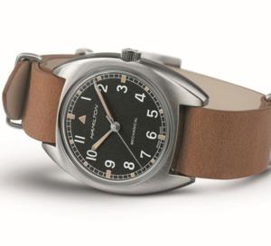 Hamilton réinterprète sa montre W10 des années 70 fabriquée pour la Royal Air Force