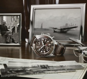 "IWC Aviateur Timezoner Chrono édition ""80 years flight to New York"" : 80 ex. pour Saint Ex'"