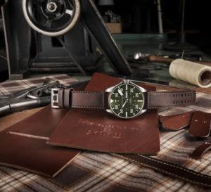 Hamilton Khaki Pilot Schott NYC : j'veux du cuir !