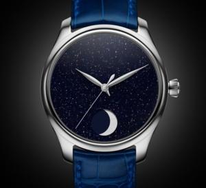 Moser Endeavour Perpetual Moon Concept Aventurine : la Lune et les étoiles au poignet