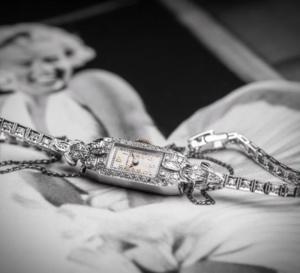 Une Blancpain des années 30 de Marylin Monroe présentée à New York