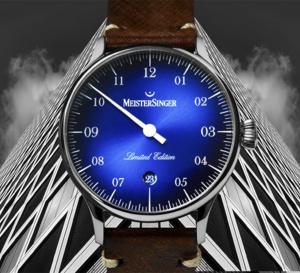 """MeisterSinger Pangaea Date spéciale France : cadran bleu fumé pour """"French Touch"""""""