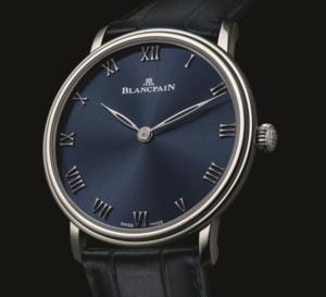Blancpain Villeret Ultraplate cadran bleu : une exclu boutique à 88 exemplaires