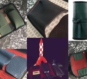 """Grandval : de beaux étuis de voyage en cuir """"made in France"""""""