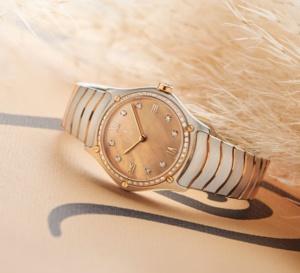 Ebel Sport Classic Lady : la nacre beige et les diamants à l'honneur