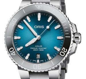 """Oris Aquis Date : un cadran bleu """"océan"""" en 39,5 mm"""