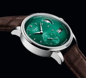 Glashütte Original PanomaticLunar : une nouvelle version vert sapin