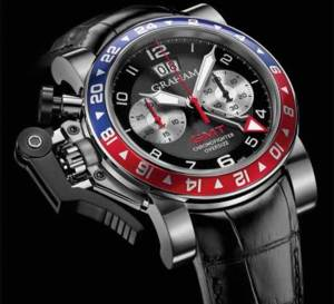 Graham Chronofighter Oversize GMT Blue and Red