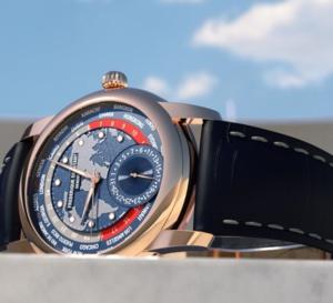 Frédérique Constant Classic Worldtimer Manufacture : or rose pour heures du monde
