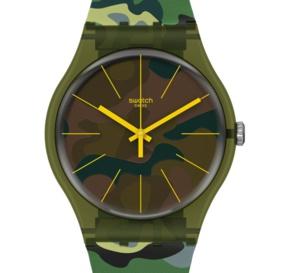 """Swatch Essentials Camouforest : une nouvelle version """"camo"""" très réussie"""