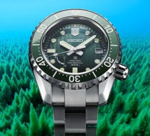 Seiko Prospex LX Line : cadran vert d'eau en hommage aux forêts d'algues d'un lac en Antarctique