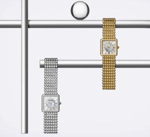 Michel Herbelin : un boitier carré pour un bracelet tout en rondeurs