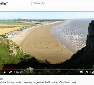 Angleterre : l'artiste Simon Beck créé une Nautilus dans le sable !