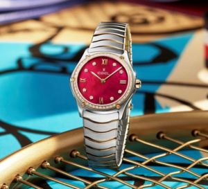 Ebel Sport Classic Lady : rouge carmin retro red