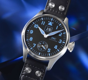 IWC Grande Montre d'Aviateur Grande Date Bucherer Blue : cent exemplaires