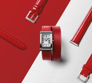 Michel Herbelin Antarès avec bracelets interchangeables : rougir de plaisir