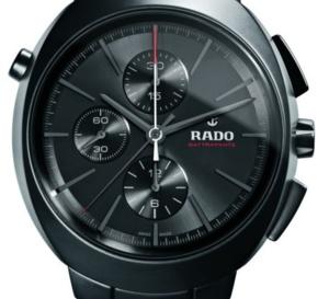 Rado D-Star Rattrapante : série limitée de 250 exemplaires en céramique noire mate