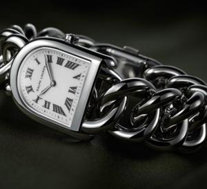 Ralph Lauren Stirrup Steel Link Petit modèle : belle montre en acier avec bracelet chaîne