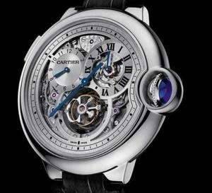 Montre Ballon Bleu de Cartier Tourbillon second fuseau double sautant : haute horlogerie voyageuse...