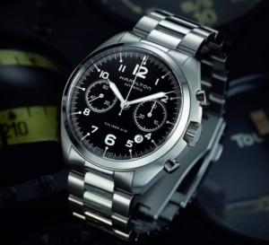 Hamilton Khaki Pilot Pioneer Auto Chrono : inspiration British Royal Air Force