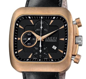 Gucci : chrono automatique extralarge Coupé Bronze