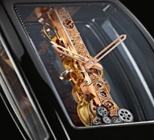 Corum Golden Bridge : céramique noire pour boitier tonneau