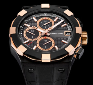 Concord C1Chronograph Black and Gold