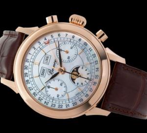 Berney : un somptueux chrono en or rose avec cadran nacre et Valjoux 88
