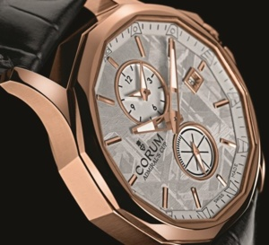 Corum Admiral's Cup Legend 42 Meteorite Dual Time : mesure du temps sur fragment d'éternité