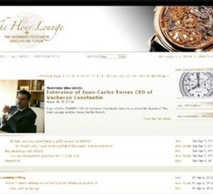 Avec www.TheHourLounge.com, Vacheron Constantin lance son forum de discussion sur le web