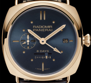 Panerai Radiomir 8 jours GMT or rouge – 45mm : toute la beauté d'un cadran bleu à 300 exemplaires