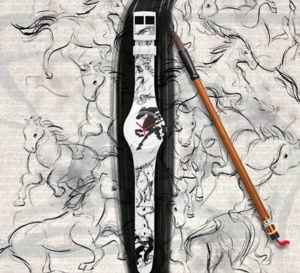 Swatch Year of the Horse : un fougueux cheval façon calligraphie chinoise