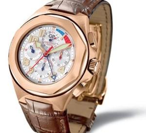 Girard-Perregaux : chronographe Laureato USA 98 en or rose