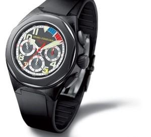 Girard-Perregaux : Chronographe Laureato USA 98 en acier avec bracelet caoutchouc