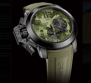 Graham Chronofighter Oversize Black Arrow : chrono camo