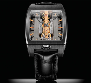 Corum Golden Bridge Automatic : version titane DLC noir