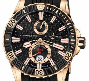 Ulysse Nardin : la Marine Diver s'affiche en or rose