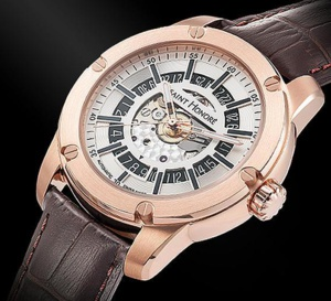 Saint Honoré Artcode Automatic Open Dial : version PVD or rose