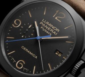 Panerai Luminor 1950 3 Days Chrono Flyback céramique noire et 44 mm : pré-SIHH 2015