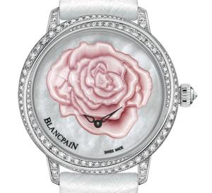 Blancpain Saint Valentin 2015 : une rose de nacre et des diamants pour célébrer votre amour