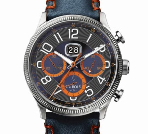Chronographe Flyback DBF001-10 : look racing seventies