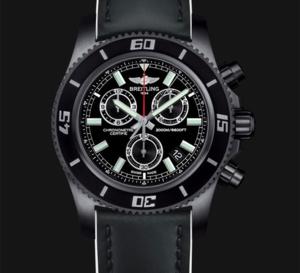 Breitling SuperOcean chronograph M2000 Blacksteel : chrono pour plongées profondes