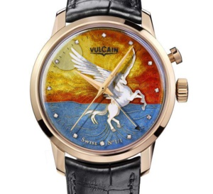 Vulcain Only Watch 2015 : l'émail grand feu et Pégase à l'honneur