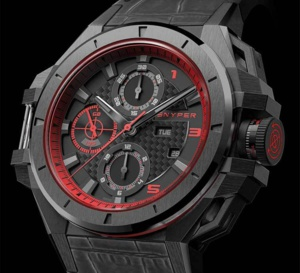 Snyper Ironclad Steel PVD Black Red Edition