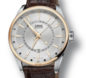 Oris Artix Pointer Moon Date Bicolore : de l'or acier qui déphase... de Lune