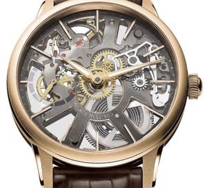 Masterpiece squelette or rose de chez Maurice Lacroix : une image plus contemporaine des montres « squelette »