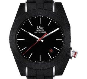 Chiffre Rouge A06 de Dior : toujours asymétrique et recouverte de caoutchouc noir