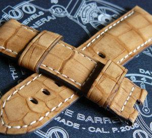 Un bracelet en alligator « nubucké » pour vos Radiomir et vos Luminor Officine Panerai