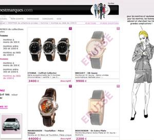 Vente de Rolex, Eterna, Jaeger-LeCoultre, etc. sur le site Internet Bestmarques.com