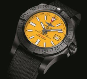 Breitling Avenger II Seawolf Blacksteel : plongeuse de l'extrême